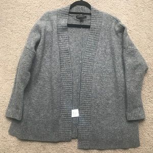 Banana Republic Gray Wool Cardigan with Open Sides